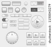 interface buttons set. push... | Shutterstock . vector #1150043279