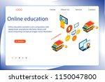 online education isometric... | Shutterstock .eps vector #1150047800