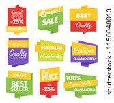isolated sale sticker bitmap... | Shutterstock . vector #1150048013