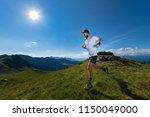 athlete man practicing mountain ... | Shutterstock . vector #1150049000
