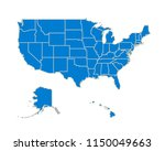 cartoon silhouette usa map with ... | Shutterstock .eps vector #1150049663