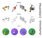 fishing  fish  catch  hook ... | Shutterstock . vector #1150049966