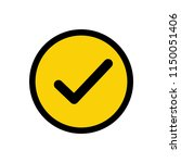 check mark in circle icon... | Shutterstock .eps vector #1150051406