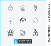 shelter icon. collection of 9... | Shutterstock .eps vector #1150051823