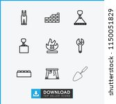build icon. collection of 9... | Shutterstock .eps vector #1150051829