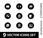 pad icon. collection of 9 pad... | Shutterstock .eps vector #1150051850