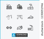heavy icon. collection of 9...   Shutterstock .eps vector #1150051946