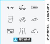transport icon. collection of 9 ...   Shutterstock .eps vector #1150052846