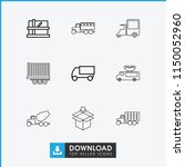deliver icon. collection of 9... | Shutterstock .eps vector #1150052960