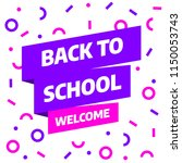 back to school sale banner... | Shutterstock .eps vector #1150053743