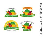 fresh organic vegetables logo... | Shutterstock .eps vector #1150054730