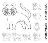 toy animals outline icons in...   Shutterstock . vector #1150056323
