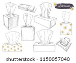 a set of sketches of tissue... | Shutterstock .eps vector #1150057040