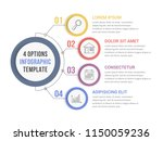 circle infographic template...   Shutterstock .eps vector #1150059236