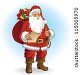 santa claus | Shutterstock .eps vector #115005970