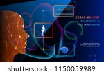human machine collaboration in... | Shutterstock .eps vector #1150059989