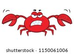 angry crab cartoon mascot... | Shutterstock . vector #1150061006