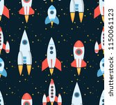 rocket space globe solar system ... | Shutterstock .eps vector #1150061123