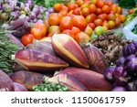 fresh agricultural produce sold ... | Shutterstock . vector #1150061759