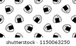 onigiri seamless pattern vector ... | Shutterstock .eps vector #1150063250
