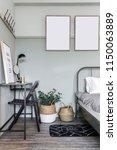 Cozy Green Bedroom Corner With...