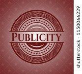 publicity vintage red emblem | Shutterstock .eps vector #1150066229