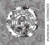 urgency on grey camouflage... | Shutterstock .eps vector #1150066253