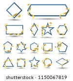 banner geometry collection with ... | Shutterstock .eps vector #1150067819