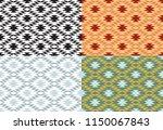 set of seamless geometric... | Shutterstock .eps vector #1150067843