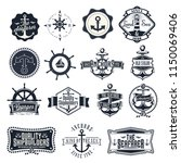 nautical emblem signs | Shutterstock .eps vector #1150069406