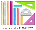 set of colourful rulers. art... | Shutterstock .eps vector #1150069670