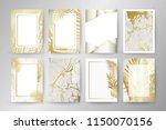 set of elegant brochure  card ... | Shutterstock .eps vector #1150070156