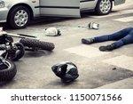 motorcyclist helmet and...   Shutterstock . vector #1150071566
