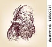 Santa Claus Hand Drawn Vector...