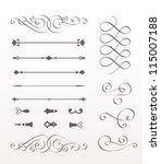 set calligraphic design...   Shutterstock .eps vector #115007188