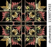 striped embroidery 3d baroque ... | Shutterstock .eps vector #1150072433