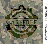 carefree on camouflage pattern | Shutterstock .eps vector #1150076843