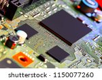 electronic circuit board close... | Shutterstock . vector #1150077260