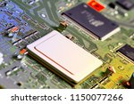electronic circuit board close... | Shutterstock . vector #1150077266
