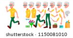 old man vector. senior person... | Shutterstock .eps vector #1150081010