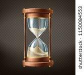 vector 3d realistic hourglass... | Shutterstock .eps vector #1150084553