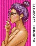 vector pop art illustration of... | Shutterstock .eps vector #1150084559
