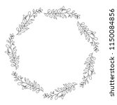 crown leafs circular frame | Shutterstock .eps vector #1150084856