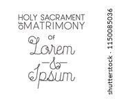 holy sacrament of matrimony... | Shutterstock .eps vector #1150085036
