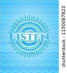 listen sky blue water badge... | Shutterstock .eps vector #1150087823