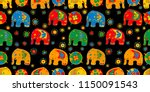 seamless asian pattern with... | Shutterstock .eps vector #1150091543