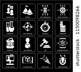 set of 16 icons such as user...