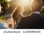 wedding couple. beautiful...   Shutterstock . vector #1150098530
