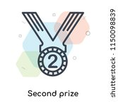 second prize icon vector... | Shutterstock .eps vector #1150098839