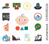 set of 13 simple editable icons ... | Shutterstock .eps vector #1150100126